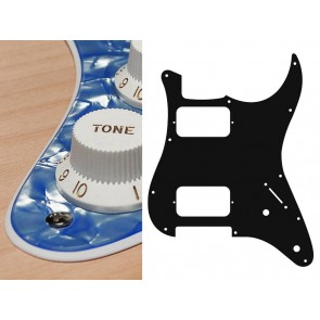 Pickguard Strat, 2 ply, pearl ocean blue, HH, 2 pot holes, 3-5 switch