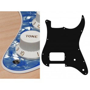 Pickguard Strat, 2 ply, pearl ocean blue, H, 2 pot holes