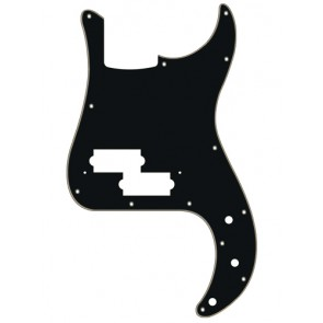 Pickguard P-Bass, 3 ply, black and cream, standard