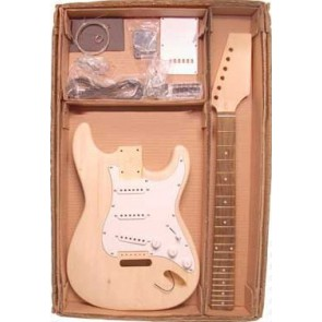 Guitar assembly kit,Strat model, basswood body, 21 frets
