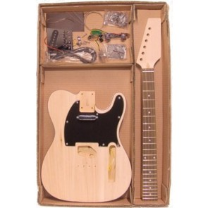 Guitar assembly kit, Tele model, basswood body, 22 frets