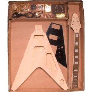 Guitar assembly kit, FV-model, basswood body, 22 frets, bolt-on neck