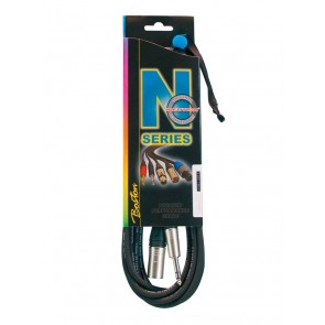 N-Series microfoonkabel, xlr male, stereo jack, 5 meter, Neutrik connectoren