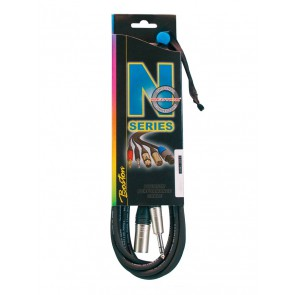 N-Series microfoonkabel, xlr male, stereo jack, 10 meter, Neutrik connectoren