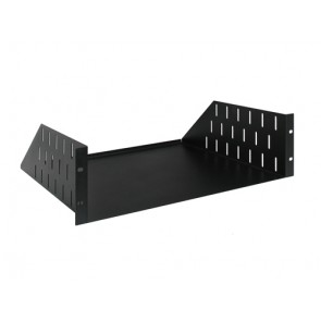 19 inch rack cradle, 3 HE, metal, black