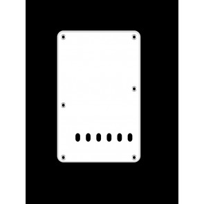 Back plate, string spacing 11,2mm, white, 1 ply, standard Strat, 86x138mm