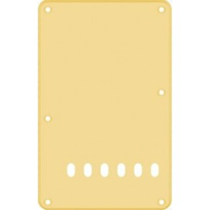 Back plate, string spacing 11,2mm, cream, 1 ply, standard Strat, 86x138mm