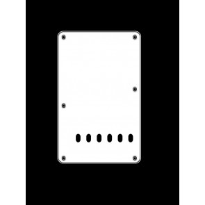 Back plate, string spacing 11,2mm, white, 3 ply, standard Strat, 86x138mm
