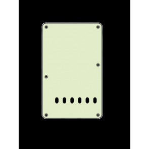 Back plate, string spacing 11,2mm, mint, 3 ply, standard Strat, 86x138mm