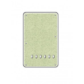 Back plate, string spacing 11,2mm, sparkling champ., 2 ply, standard Strat, 86x138mm