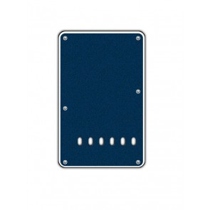 Back plate, string spacing 11,2mm, sparkling blue, 2 ply, standard Strat, 86x138mm