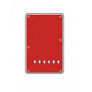 Back plate, string spacing 11,2mm, sparkling red, 2 ply, standard Strat, 86x138mm