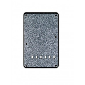 Back plate, string spacing 11,2mm, sparkling black, 2 ply, standard Strat, 86x138mm