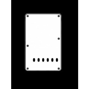 Back plate, string spacing 11,2mm, vintage white, 3 ply, standard Strat, 86x138mm
