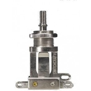Switchcraft toggle switch 3-way, nickel, no cap