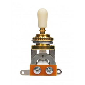 Toggle switch 3-way, with ivory plate and cap