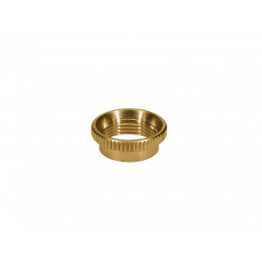 Switchcraft switch nut, deep knurled, brass, for thick top guitars