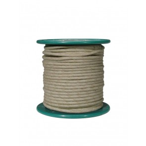 Cloth covered wire, vintage style, white, 18 gauge (1mm2), tinned stranded copper per meter
