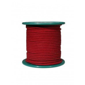 Cloth covered wire, vintage style, red, 18 gauge (1mm2), tinned stranded copper per meter