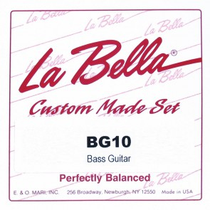 LaBella Multi-Size Guitars snarenset 6-snarige basgitaar, 700mm mensuur, clear nylon trebles, silverplated basses