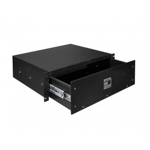 19 inch rack drawer 3HE with lift lock, internal height 117mm