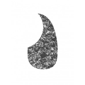Pickguard acoustic, teardrop model, self adhesive, pearl black