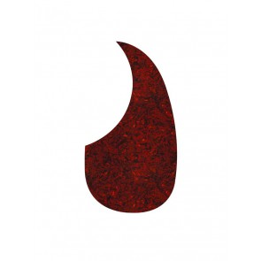 Pickguard acoustic, teardrop model, self adhesive, tortoise medium