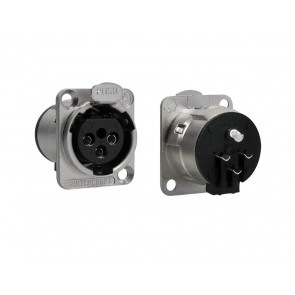 Switchcraft XLR chassis connector, female, voor N-style D-hole