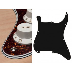 Pickguard Strat, 4 ply, tortoise, fine, no holes (only screw holes)