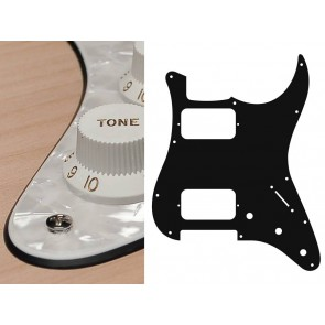 Pickguard Strat, 4 ply, pearl white, HH, 3 pot holes, 3-5 switch