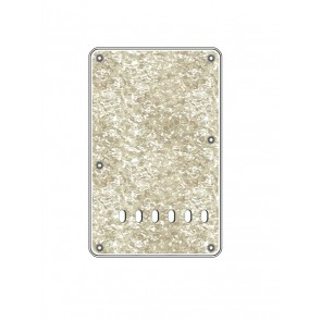 Back plate, string spacing 11,2mm, pearl white, 4 ply, standard Strat, 86x138mm