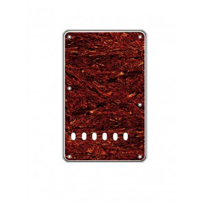 Back plate, string spacing 11,2mm, tortoise medium, 4 ply, standard Strat, 86x138mm, lefthanded