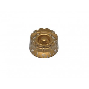 Speed knob (notched edge), transparent gold, for inch type pot shaft