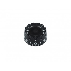 Speed knob (notched edge), transparent black, for inch type pot shaft