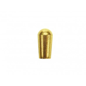 Switch cap LP-style, gold plated, inch, fits Switchcraft