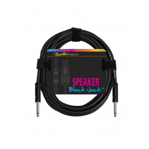 Black Jack speaker kabel, zwart, 2 meter, jack - jack, 2 x 1,5mm