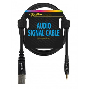 Audio signaalkabel, XLR male naar 3.5mm jack stereo, 0.75 meter