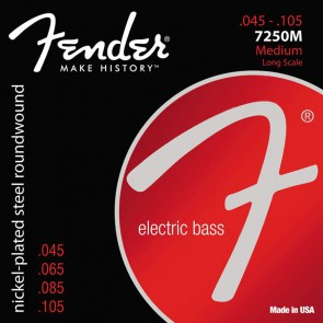 Fender Super 7250s string set electric bass nickel roundwound medium 045-065-085-105