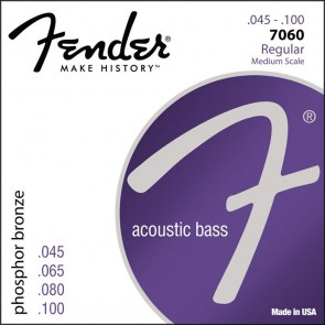 Fender Phosphor Bronze Acoustic Bass string set 32  medium scale phosphor bronze wound 045-055-075-095