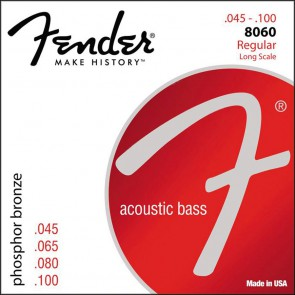Fender Phosphor Bronze Acoustic Bass string set 34  long scale phosphor bronze wound 045-055-075-095