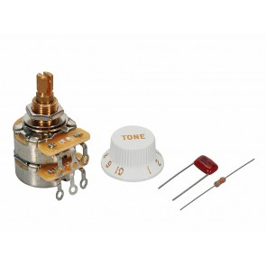 Fender Genuine Replacement Part TBX Tone potentiometer standard length bushing .375  3/8  diameter with .022mf capacitor