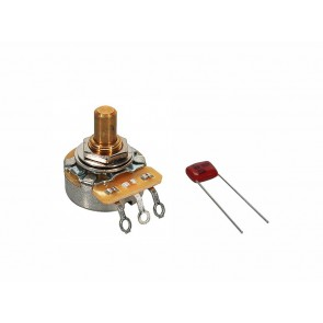 Fender Genuine Replacement Part 500K potentiometer .375  length bushing solid shaft with .022mf capacitor