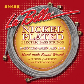 LaBella Slappers snarenset elektrisch 5 snarig bassgitaar, nickel wrap, roundwound light,  045-065-085-105-128 long