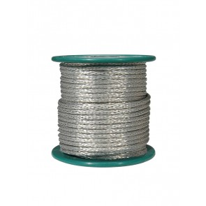 Braided shield wire, vintage style, 15 meter, 18 gauge (1mm2), tinned stranded copper
