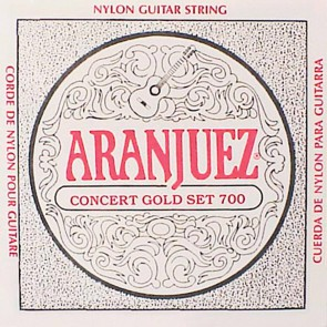 Aranjuez Concert Gold snarenset klassiek, clear nylon trebles & goldplated wound basses