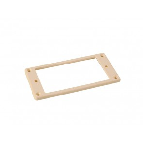 Humbucker frame, flat bottom slanted top, 3x5mm, ivory