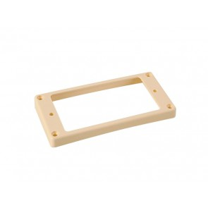 Humbucker frame, curved bottom slanted top, 7x9mm, ivory