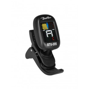 Chromatische clip-on tuner, (ook G+B+U+V), full colour display, 430-450Hz, viool clip-on