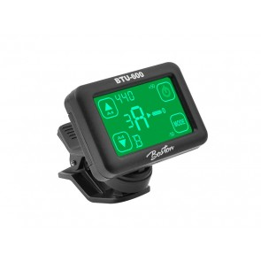 Chromatische clip-on tuner, (ook G+B+U+V), met touch screen display, 430-450Hz