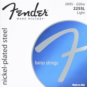 Fender string set tenor banjo nickel plated steel light 0095-010-013-020w-0095 loop end
